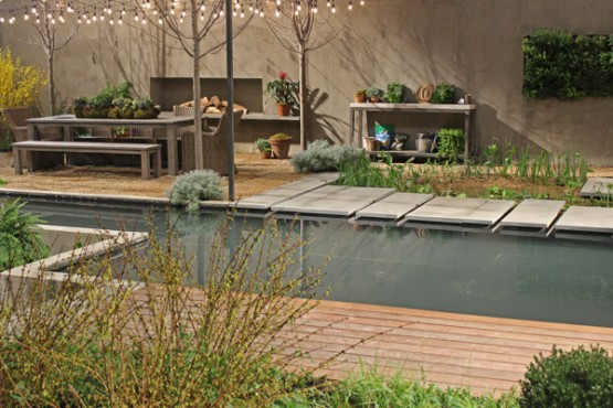 modern entertaining garden